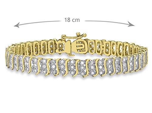 Carissima Gold - Bracelet chaîne - Or jaune 9 cts - Diamant 1.5 cts - 18 cm