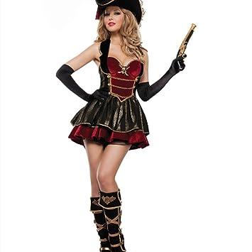 TUWEN Disfraces De Halloween Traje De Pirata del Caribe ...