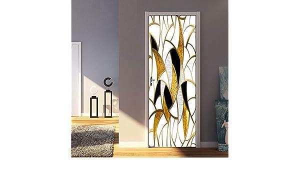 Etiqueta De La Puerta 3D Puerta Interior Mural 77X200CM Geometría ...