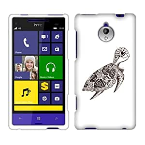 Fincibo (TM) HTC 8XT PO88100 Premium Hard Plastic Snap On Protector Cover Case - Cute Turtle, Front And Back