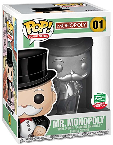 Funko Pop Board Games Silver Mr. Monopoly Limited Edition Vinyl (Pop Edition Game)