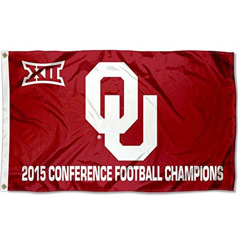 OU Sooners 2015 Big 12 Champs Flag