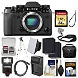 Fujifilm X-T2 Digital Camera Body with 64GB Card + Case + Flash + Batteries & Charger + Tripod + Kit