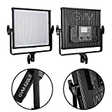 GVM LED Video Light 520LS CRI97 Plus & TLCI 97+ Plus 18500lux@20 inch Variable color temperature 3200-5600K Digital Display Professional Video Light Photography lighting for Studio, YouTube Outdoor Video Photography Lighting, Black