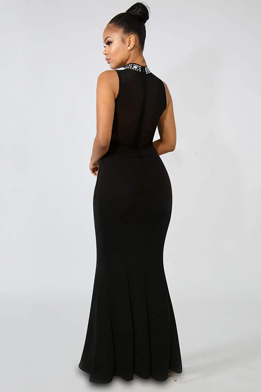 e7efeddb7ea03 Women's Mermaid Semi Formal Dresses - Head Turner Elegant Sparkly Long  Evening Ball Gowns at Amazon Women's Clothing store: