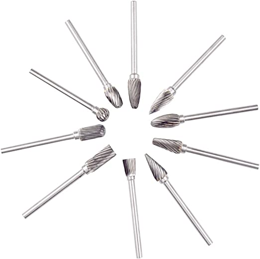 3mm Shank Carving Grinding Diamond Burrs Slice Head E Needle Polishing Tool 14MM Diameter