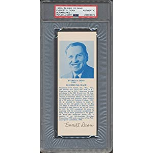 1968 74 Hof Bookmarks Everett S. Dean PSA/DNA Certified Certified Certified Autographed *3975