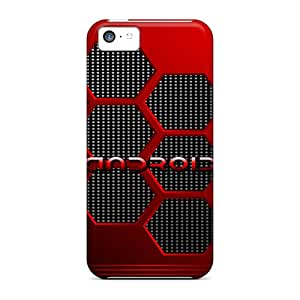 Awesome NPC12271auEU TinaMacKenzie Defender Hard Cases Covers For Iphone 5c- Red Android Design