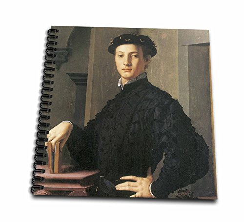3dRose db_127042_1 Portrait of a Young Man by Agnolo Bronzino-Drawing Book, 8 by (Bronzino Portrait)