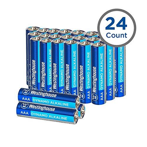 (Westinghouse Alkaline Batteries, AAA Alkaline Battery, Primary Batteries, Bulk Pack, 24 Count(AAA, 24)