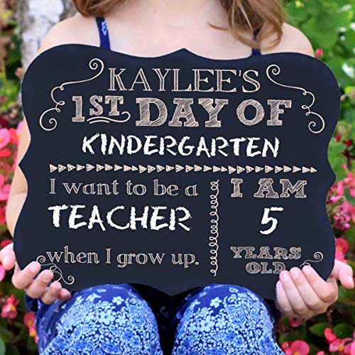 First Day Of School Personalized Chalk Board Sign -