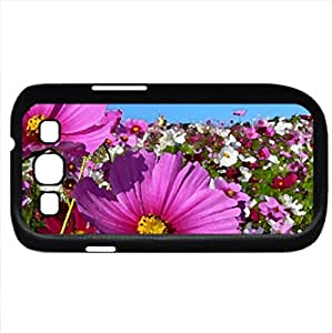 Field of spring flowers (Fields Series) Watercolor style - Case Cover For Samsung Galaxy S3 i9300 (Black)