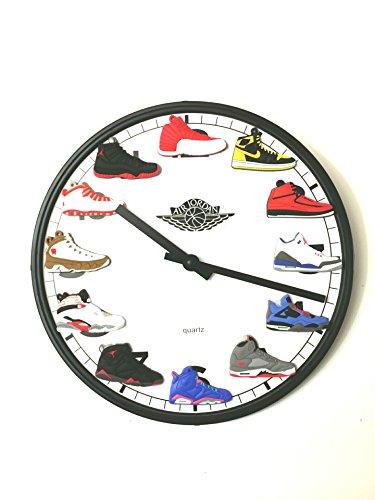 5bb8f895fa81 New Release Jordan Retro 1-12 (3-D) Wall Clock