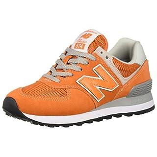 New Balance Men's 574 V2 Core Sneaker, Varsity Orange/White, 4.5 W US