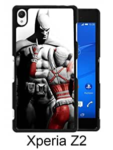 Beautiful Classic Batman And Harley Quinn Black Case For Sony Xperia Z2