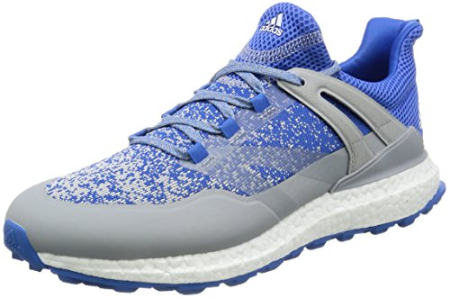 adidas Crossknit Boost Mens Golf Shoes Trainers (UK 8.5 US 9 EU 42 2/3, White Blue Grey Q44683) ()