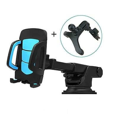 2 en 1 coche soporte para teléfono GPS Accesorios ventosa Auto salpicadero parabrisas funda para teléfono