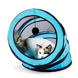 Juguete plegable del túnel del gato, para guardar el gatito entretenido, ejercitando y jugando a juegos. Como Catnip Para Gatitos. Mejor casa de Play House para ayudar a detener Meowing y rascarse