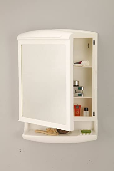 Grazia Pride Look Mirror Cabinet For Bathroom Made Abs Ivory Amazon In Home Improvement