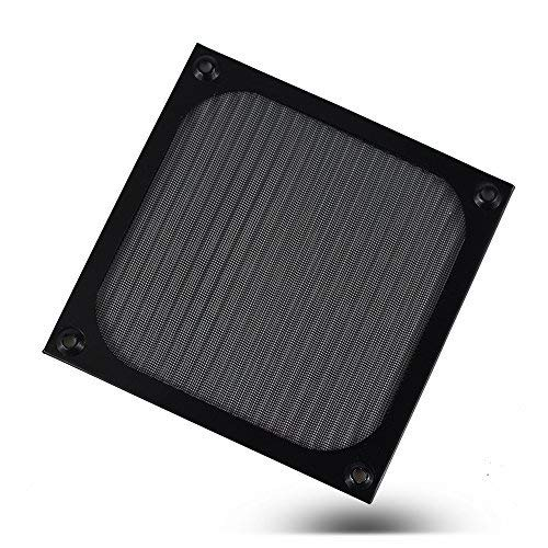 120mm Aluminium Fan Filter - 2 Sets - Black Cooling Computer Metal Fan Grills Dustproof Fan Cover by DGQ (120 Mm Fan Filter)