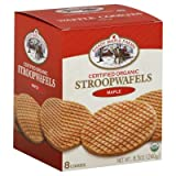 Shady Maple Farms Waffle Cookie Organic Maple 240 g (Pack of 8)