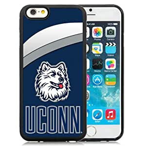 Fashion And Unique iPhone 6 Cover Case NCAA American Athletic Conference AAC Football Connecticut Huskies 3 Protective Cell Phone Hardshell Cover Case For iPhone 6 4.7 Inch TPU Black Phone Case