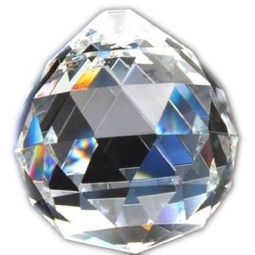 Hierkryst 1.2 Inch Clear Crystal Ball Drop Prisms, Pack of 5