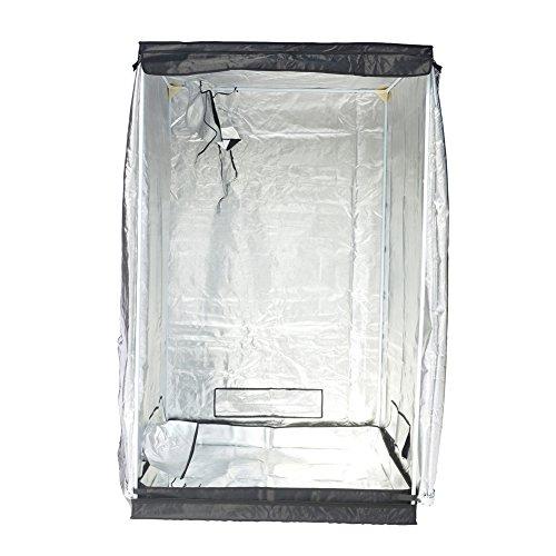 "51iMVV%2BsP1L - Indoor Grow Tent,Smart 32""x32""x62"" Reflective 600D Mylar Hydroponic Grow Tent with Heavy Duty Anti-Rust Zipper for Indoor Plant Growing Black 3'x3'"