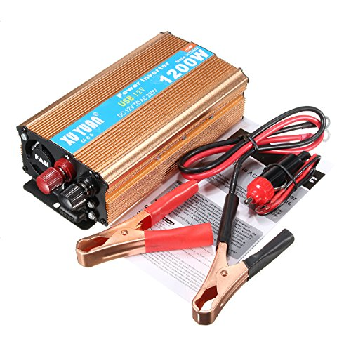 1200W Modified Sine Wave Inverter Power Inverter 12V to AC 220V for Electronic