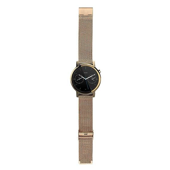 WayIn® Enlace venda de la correa del reloj del acero 16MM Señora inoxidable con cierre