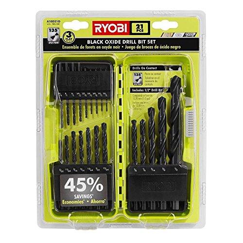 RYOBI A10D21D Black Oxide Drill Bit Set