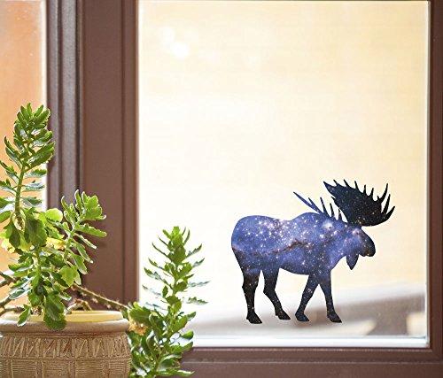 Cosmic Moose - Spirit Animal - Galaxy Guide - See-Through Vinyl Window Decal - Copyright Yadda-Yadda Design Co. (5.5