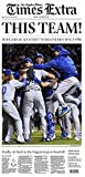 Los Angeles Dodgers Win Pennant Los Angeles Times Newspaper October 20, 2016