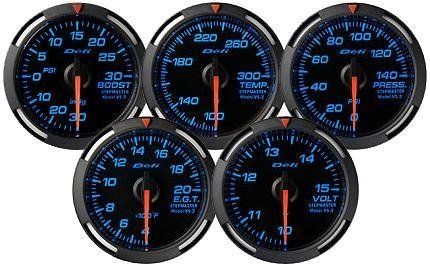 Defi White Racer Boost Gauge 52Mm High Boost Model 45 Psi By Jm Auto Racing (Df14603)