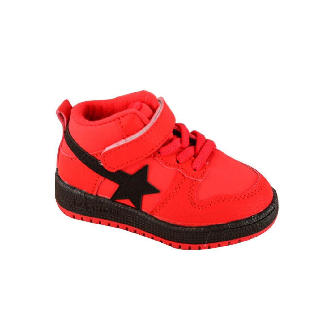 Iuhan Anti-slip Kids Boys Girls Sports Running Sneakers Star Baby Infant Casual Shoes