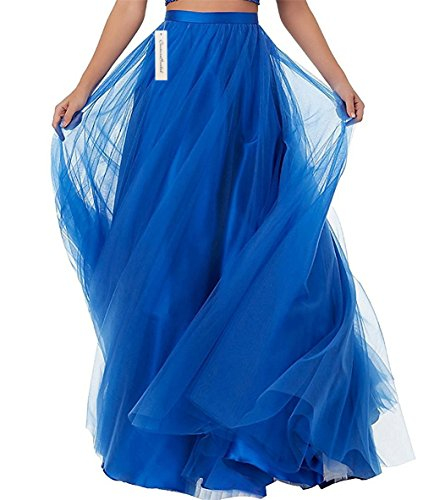 CoutureBridal Femme Jupe Longue Jupe Maxi pour Soire Mariage Haute Taille Tulle Burgundy