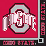Ohio State Buckeyes NCAA College University Sports Party Paper, Napkins for Beverage for 20 Guests