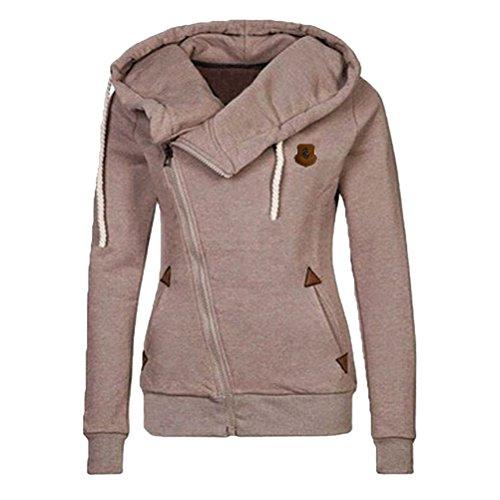 援助するレイプコンクリートLinyuan ファッション Women's Stylish Slim Warm Hooded トレーナー Sweatshirt Zipper Coat Jacket Outwear #1111
