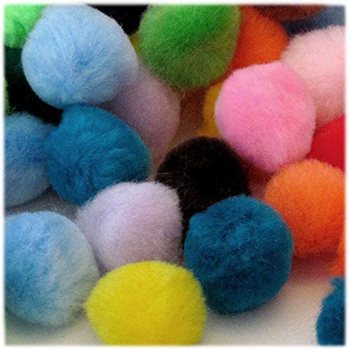 51mm//About 2.0-inch The Crafts Outlet 50-Piece Multi Purpose Pom Poms Acrylic Round Purple