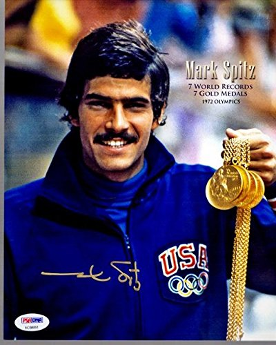 Mark Spitz Signed - Autographed Olympic Swimming 8x10 inch Photo - 11x OLYMPIC MEDALIST - Certificate of Authenticity (COA) - PSA/DNA Certified