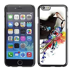 CaseCaptain Carcasa Funda Case - Apple Iphone 6 / Funny Clown & Gun /