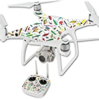 Skin For DJI Phantom 4 Quadcopter Drone – Bright Lures | MightySkins Protective, Durable, and Unique Vinyl Decal wrap cover | Easy To Apply, Remove, and Change Styles | Made in the USA