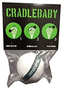 CradleBaby Rubber Lacrosse Ball for Training Indoor, Outdoor, Shooting, Catching (Forest Green/White)