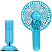 MOMAX Small Portable Fan, Mini USB Rechargeable Fan with 2500mAh Power Bank, Mini Pocket Personal Fans Handheld for Traveling,Fishing,Camping, Hiking,BBQ,Baby Stroller, Picnic, Biking, Boating (Blue)