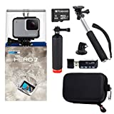 GoPro Hero7 White Bundle with Float Handle - Handheld Monopod - Camera Case - Memory Card Reader - and 8GB MicroSDHC Card
