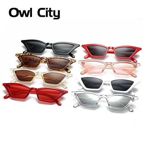 752ffb2a596 Amazon.com   Locetosell123 Vintage Sunglasses Women Cat Eye Luxury Brand  Designer Sun Glasses Retro Small Red ladies Sunglass Black Eyewear oculos    Sports ...