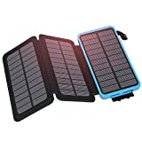Solar Charger 24000mAh, ADDTOP Portable Solar Power Bank with Dual USB Ports Outdoor Waterproof External Battery Fast Charging Solar Phone Charger Compatible with iPhone, ipad, Smart Phone, Tablet