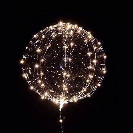Fillable Li 18 Inch 5 PCS Led Light Up BoBo Balloon Colorful// Warm White Lights