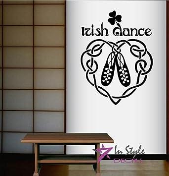 Wall Vinyl Decal Home Decor Art Sticker Irish Dance Words Sign