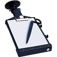 Cora 000120741 Notizblockhalter groß mit Saugnapf und LED-Beleuchtung